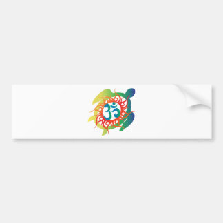 Om-Tatto-Vibrant-Turtle Bumper Sticker
