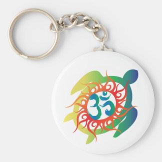 Om-Tatto-Vibrant-Turtle Key Ring