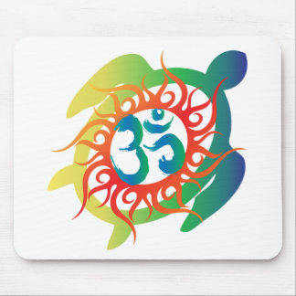 Om-Tatto-Vibrant-Turtle Mouse Mat