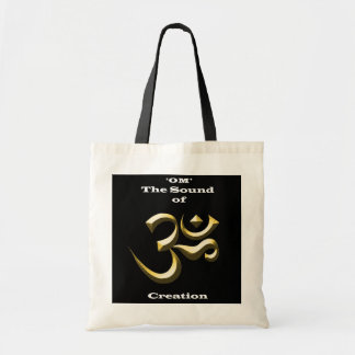 'OM' The Sound of Creation: Tote Bags