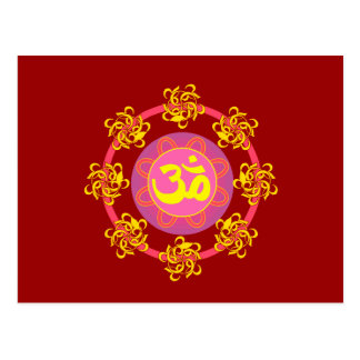 Om with Swirls and Colors! Post Card
