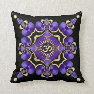 OM Yoga Arts Golden Purple Cushion