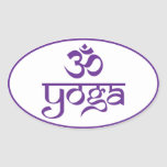 Om Yoga Oval Stickers
