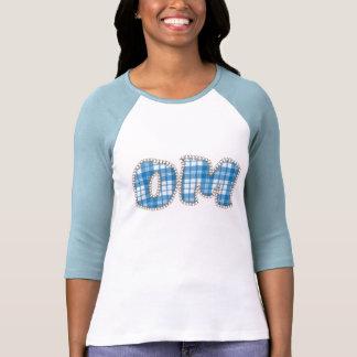 Om Yoga Shirts Long Sleeve - Blue Plaid