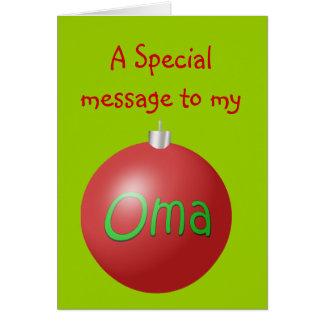 Oma Christmas ornament card