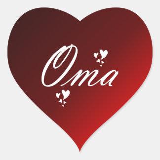 oma heart sticker