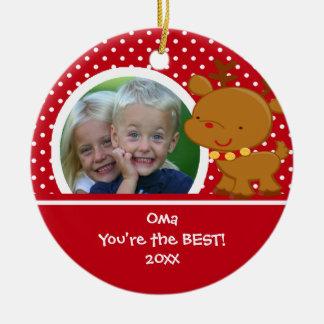 Oma Photo Reindeer Christmas Ornament