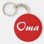 Oma sleutelhanger basic round button key ring
