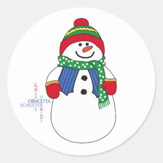 Oma Snowma Round Sticker