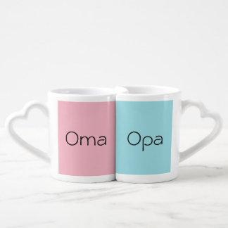 Oma und Opa ein Paar Kaffeetassen Coffee Mug Set