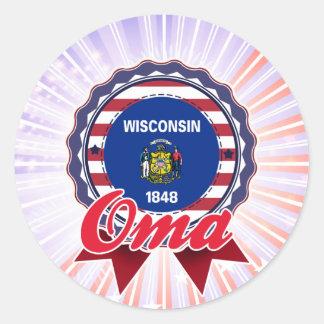 Oma, WI Round Sticker