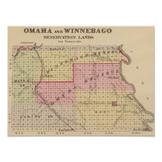 Omaha and Winnebago Reservations in Nebraska Poster