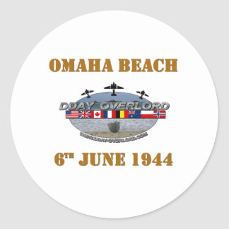 Omaha Beach 6th June 1944 Round Sticker