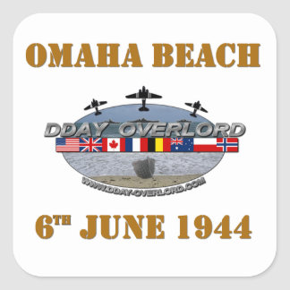 Omaha Beach 6th June 1944 Square Sticker