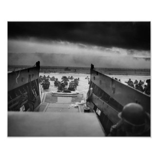 Omaha Beach Landing -- D-Day Normandy Invasion Poster