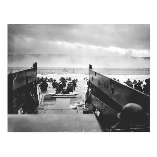 Omaha Beach, Normandy, D-Day 1944 Postcard