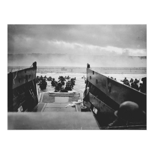 Omaha Beach, Normandy, D-Day 1944 Poster