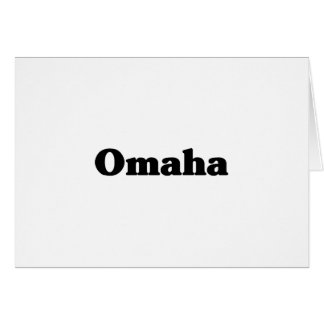 Omaha Classic t shirts Greeting Card