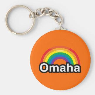 OMAHA LGBT PRIDE RAINBOW KEYCHAINS