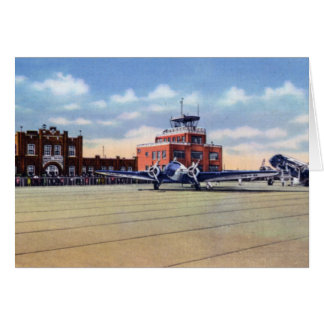 Omaha Nebraska Airport and US Weather Bureau Greeting Card