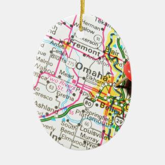 Omaha, Nebraska Christmas Ornament
