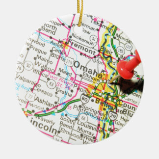 Omaha, Nebraska Christmas Ornament