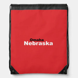 Omaha, Nebraska Drawstring Backpack