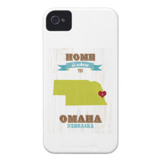 Omaha, Nebraska Map – Home Is Where The Heart Is iPhone 4 Case