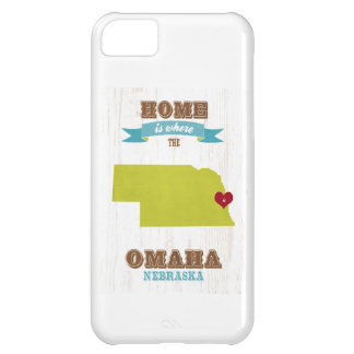 Omaha, Nebraska Map – Home Is Where The Heart Is iPhone 5C Case
