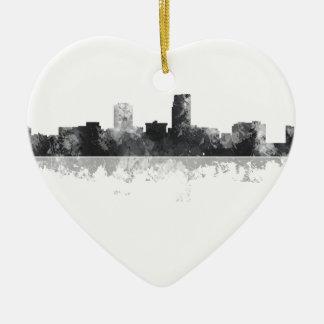 OMAHA NEBRASKA SKYLINE CERAMIC HEART DECORATION