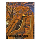 Omaha Nebraska Winter Lights Postcard