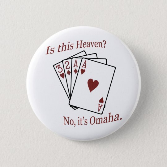 Omaha Poker 6 Cm Round Badge