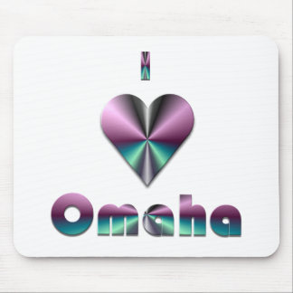 Omaha -- Purple & Turquoise Mouse Pad