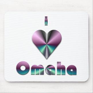 Omaha -- Purple Turquoise Mouse Pad
