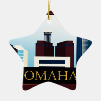 Omaha Skyline Christmas Ornament