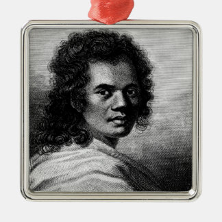 Omai, engraved by J.Caldwall, 1777 Silver-Colored Square Decoration