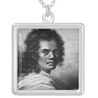 Omai, engraved by J.Caldwall, 1777 Silver Plated Necklace