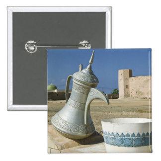 Oman, Dhofar Region, Mirbat. Large Water Carafe 15 Cm Square Badge