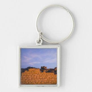 Oman, Dhofar Region, Salalah. Al, Baleed Silver-Colored Square Key Ring