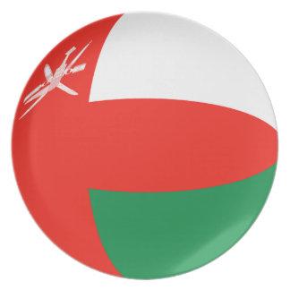 Oman Fisheye Flag Plate