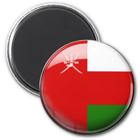 Oman Flag 6 Cm Round Magnet
