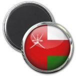 Oman Flag Glass Ball Refrigerator Magnets
