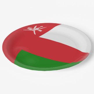 Oman Flag Paper Plate
