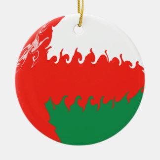 Oman Gnarly Flag Ornament