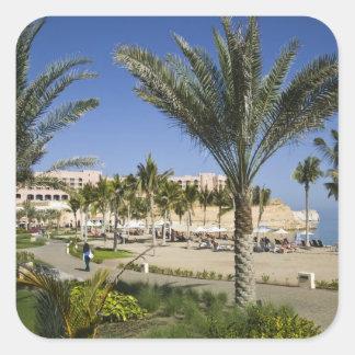 Oman, Muscat, Al, Jissah. Shangri, La Barr Al, Square Sticker