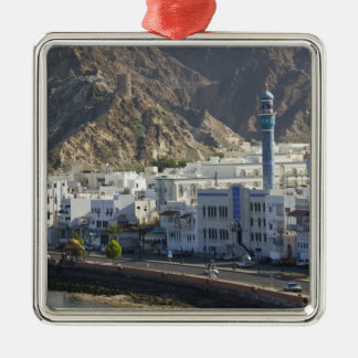 Oman, Muscat, Mutrah. Buildings along Mutrah Christmas Ornament