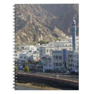 Oman, Muscat, Mutrah. Buildings along Mutrah Notebooks
