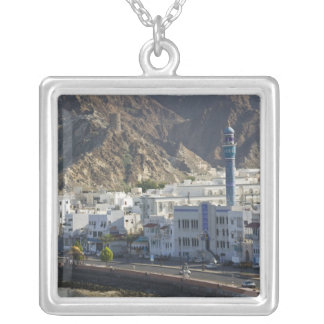 Oman, Muscat, Mutrah. Buildings along Mutrah Silver Plated Necklace