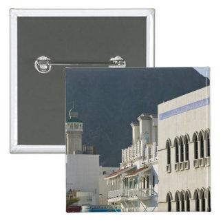 Oman, Muscat, Mutrah. Mutrah Corniche Mosque and 15 Cm Square Badge