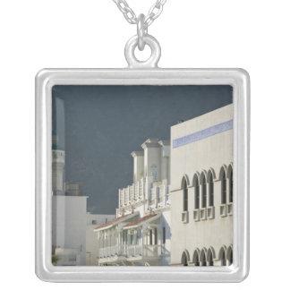 Oman, Muscat, Mutrah. Mutrah Corniche Mosque and Square Pendant Necklace